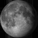 Lluna gibosa minvant